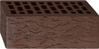 Кирпич полуторный лицевой Темно-Коричневый Лава 1,4НФ М200 F200