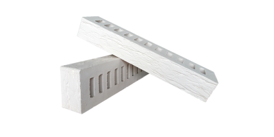 Кирпич белый керамический пустотелый фактура Ригель cortex, rock 1НФ М200