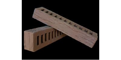 Кирпич коричневый керамический пустотелый фактура Ригель cortex, rock 1НФ М200