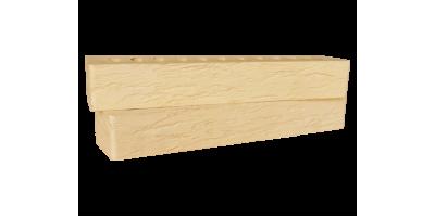 Кирпич желтый керамический пустотелый фактура Ригель cortex, rock 1НФ М200