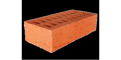 Кирпич красный пустотелый 1НФ М150 фактурный rock