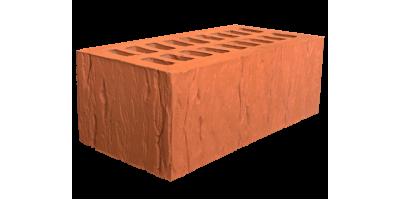 Кирпич красный пустотелый фактура cortex 1,4НФ
