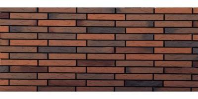 Кирпич керамический пустотелый фактура Ригель Флэш обжиг Coral 01 1НФ М200