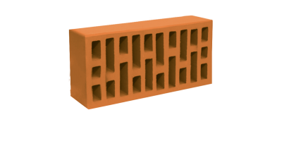 Кирпич персиковый облицовочный одинарный 1НФ